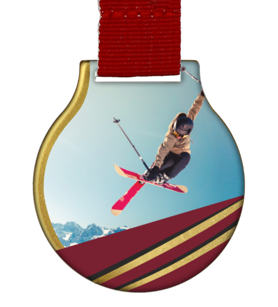 Steel medal with ribbon MC61/G/WINTER4 1