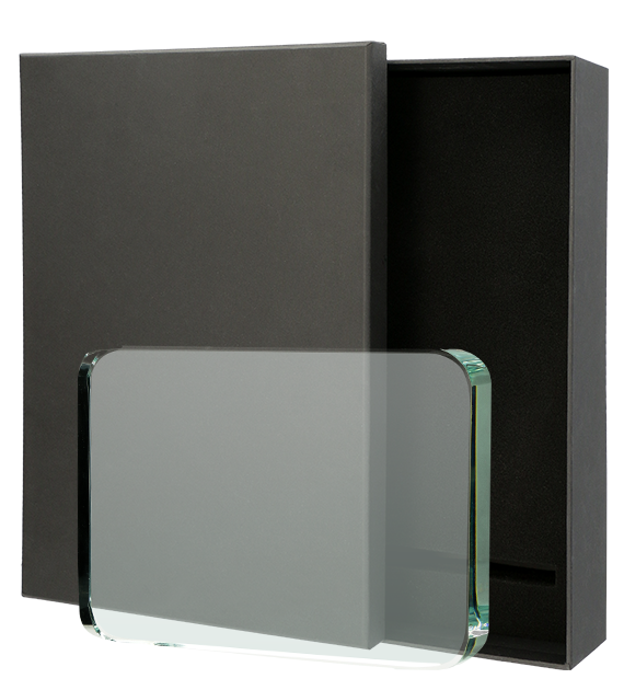 Glass award with presentation box KR812080 1