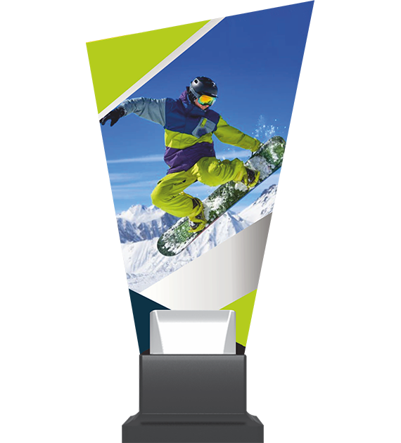 Glass trophy on a plastic base – snowboard CP02 SNO 1