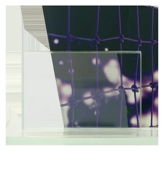 Glastrophäe, zweiGlasscheiben – Volleyball DG1-C/VOL 5