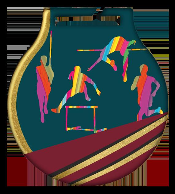 Stahl-Medaillen mit Aufdruck - Leichtathletik MC61/G/ATH 2