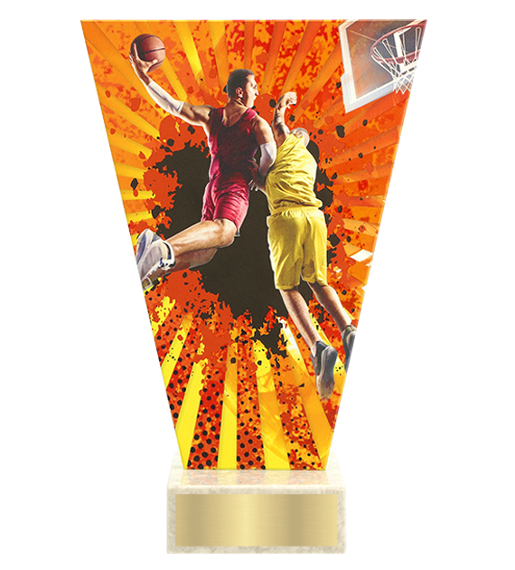 <span>Glass award  – basketball<span style='color:#ff0066; font-weight:800;'> - PRODUCTION UP TO 5 WORKING DAYS</span></span> VL2/BAS 1