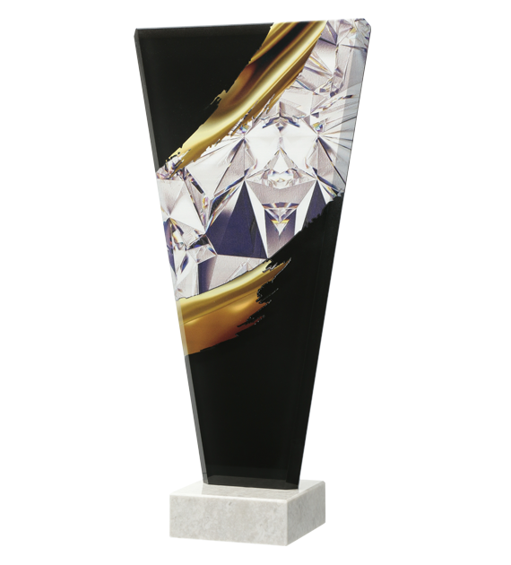 Glass award with 3D effect, two-sided printing QG12 1