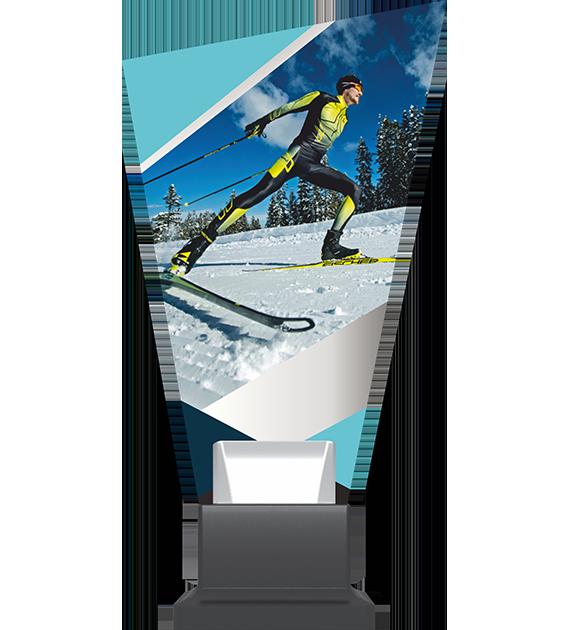 Glass trophy on a plastic base – ski CP02 SKI 1