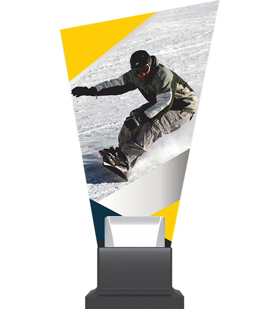 Glass trophy on a plastic base – snowboard CP02 SNO1 1
