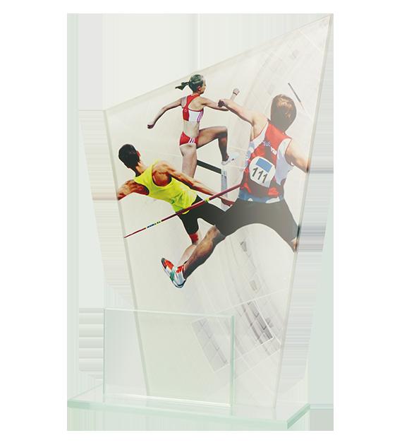 Glastrophäe, zweiGlasscheiben – Leichtathletik DG1 ATH 1