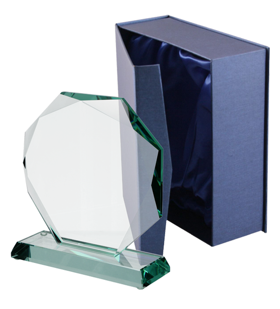 Glass trophy with presentation box G020 1