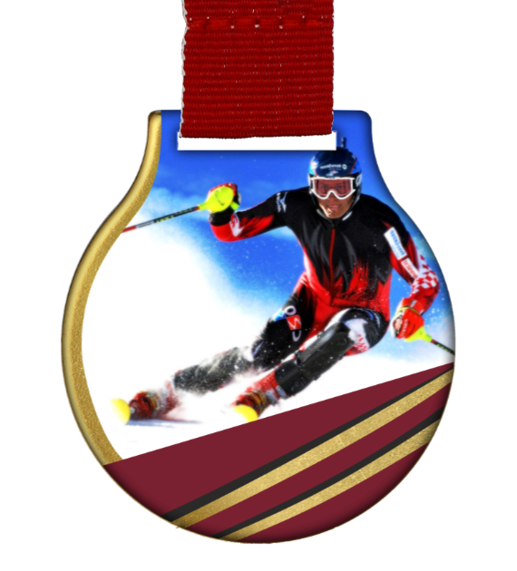 Steel medal with ribbon MC61/G/WINTER2 1