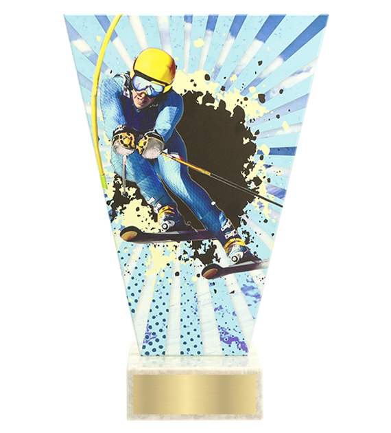 <span>Glass award  – downhil skiing<span style='color:#ff0066; font-weight:800;'> - PRODUCTION UP TO 5 WORKING DAYS</span></span> VL2/SKI2 1