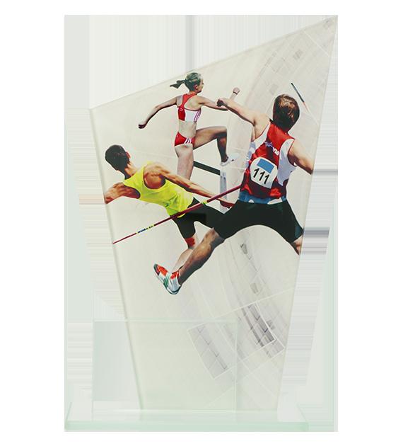 Glastrophäe, zweiGlasscheiben – Leichtathletik DG1-C/ATH 2