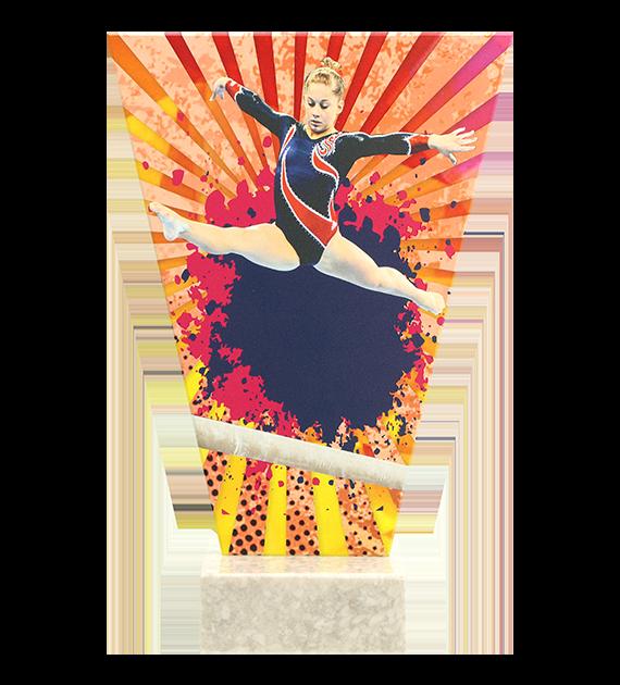 Glastrophäe –Gymnastik VL2-D/GIM 4