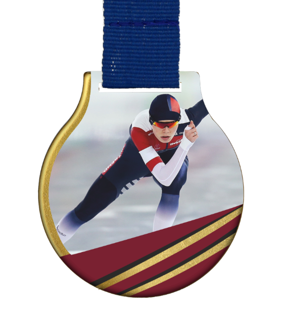 Steel medal with ribbon MC61/G/WINTER8 1
