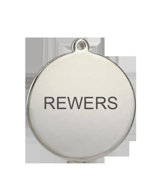 Медаль серебрянная 50 мм MMC5051/S 22