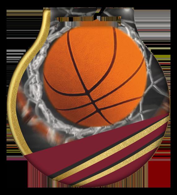 Stahl-Medaillen mit Aufdruck - Basketball MC61/G/BAS 2