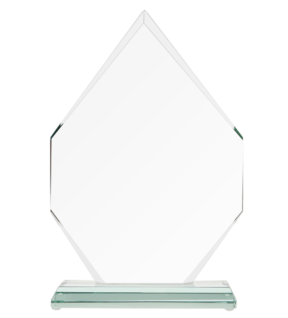 Glass trophy with presentation box G018 2