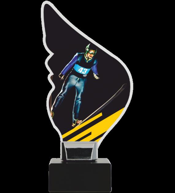 Plexiglass trophy on a plastic base - Ski Jumping CP01-M/SKJ 1