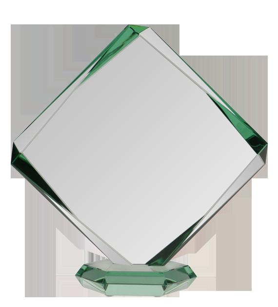 Glass trophy with presentation box G022B 2