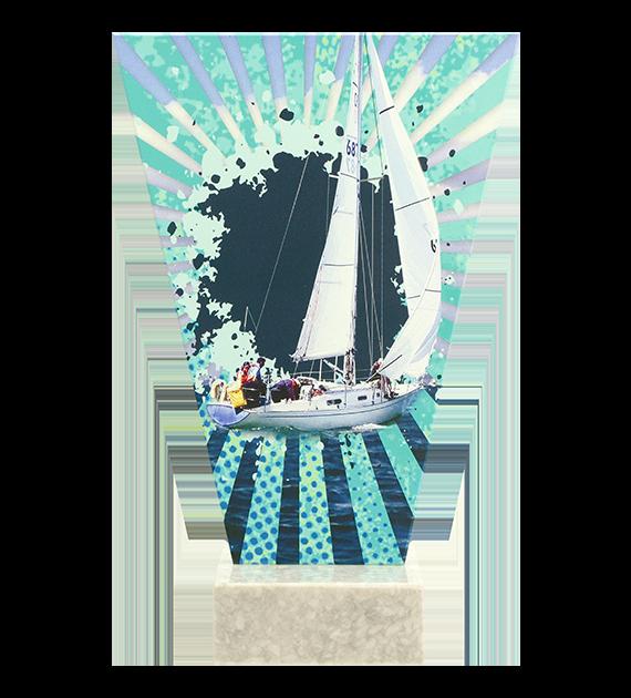 Glastrophäe – Segelboot VL2-D/SAI 4