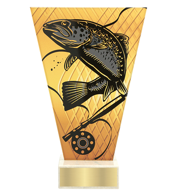 <span>Glass award  – fishing, trout<span style='color:#ff0066; font-weight:800;'> - PRODUCTION UP TO 5 WORKING DAYS</span></span> VL1/FIS4 1