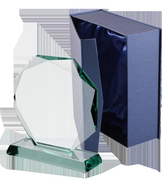 Glass trophy with presentation box G020 6
