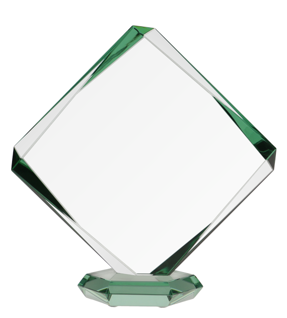 Glass trophy with presentation box G022A 2