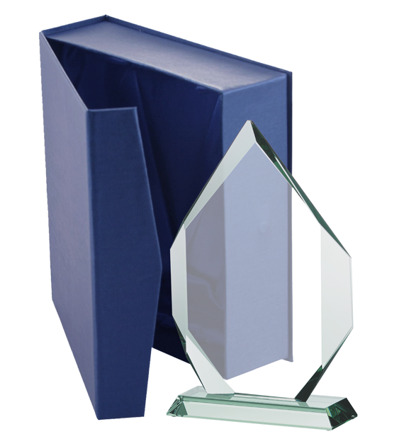 Glass trophy with presentation box G018 6