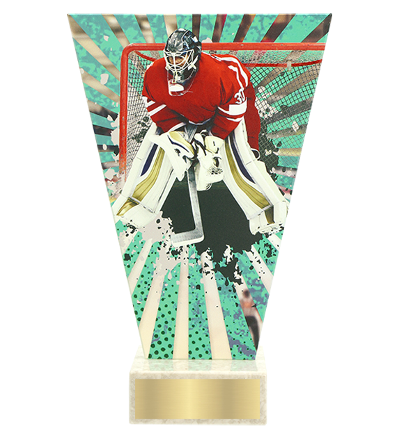 <span>Glass award  – hockey, goalkeeper<span style='color:#ff0066; font-weight:800;'> - PRODUCTION UP TO 5 WORKING DAYS</span></span> VL2/HOC1 1