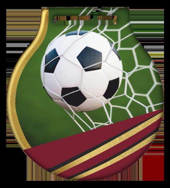 Stahl-Medaillen mit Aufdruck - Fußball1 MC61/G/SOC1 2