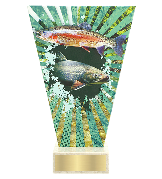 <span>Glass award  – fishing, trout<span style='color:#ff0066; font-weight:800;'> - PRODUCTION UP TO 5 WORKING DAYS</span></span> VL2/FIS4 1