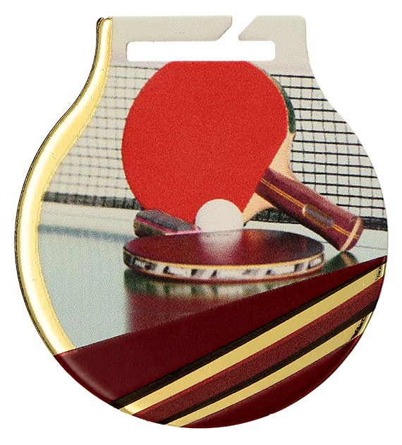 Steel medals with a colour print - Table tennis MC61/G/TAB 1