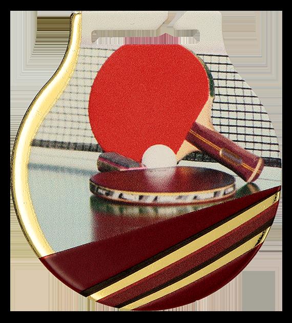 Medal stalowy z usługą Q - TENIS STOŁOWY MC61/G/TAB 1
