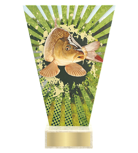 <span>Glass award  – fishing, carp<span style='color:#ff0066; font-weight:800;'> - PRODUCTION UP TO 5 WORKING DAYS</span></span> VL2/FIS2 1