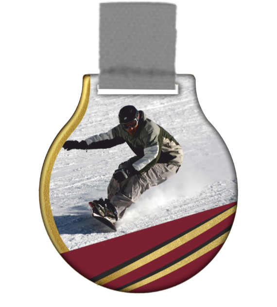 Steel medal with ribbon MC61/G/WINTER6 1