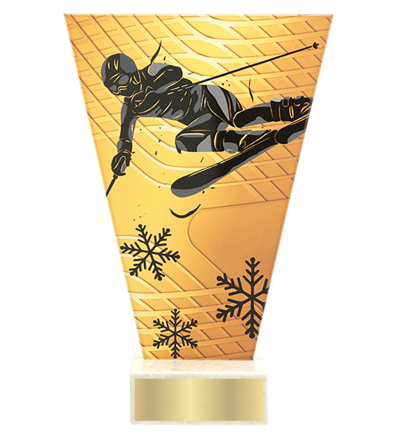 <span>Glass award  – downhil skiing<span style='color:#ff0066; font-weight:800;'> - PRODUCTION UP TO 5 WORKING DAYS</span></span> VL1/SKI2 1