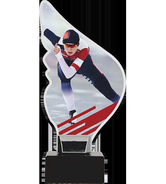 Trophy from plexy on a platform  - skates CP01-M/SKT 1