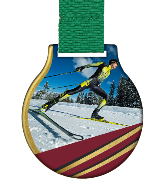 Steel medal with ribbon MC61/G/WINTER1 1