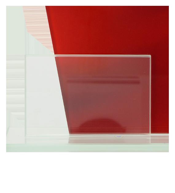 Glastrophäe, zweiGlasscheiben – Herz DG1-C/HEA 5