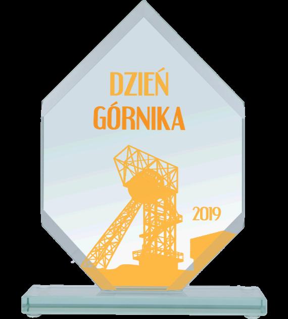 Glastrophäe mit Aufdruck GS110-20/GOR 2
