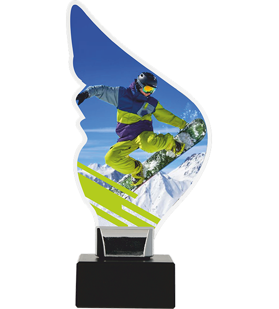 Trophy from plexy on a platform – snowboard CP01-M/SNO 1