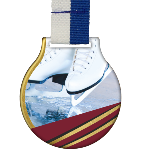 Steel medal with ribbon MC61/G/WINTER9 1