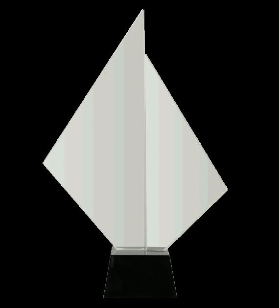 Glastrophäe mit Etui C071 2