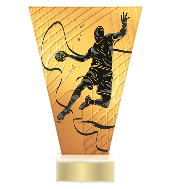 <span>Glass award  – handball<span style='color:#ff0066; font-weight:800;'> - PRODUCTION UP TO 5 WORKING DAYS</span></span> VL1/HAN 1