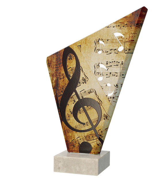 Glass award  – music TG1 MUS 1