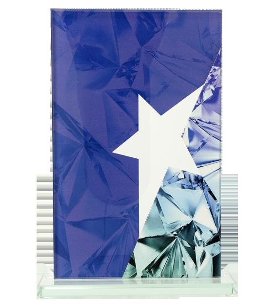 Glastrophäe mit einem beidseitigen Druck, 3D-Effekt QG11 2