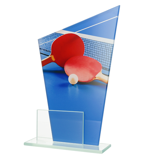 Glass award - two glass panels – table tennis DG1 TAB 1