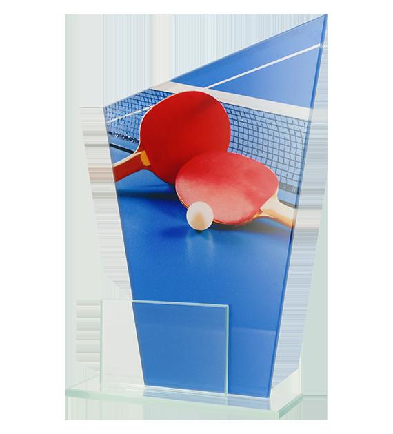 Glastrophäe, zweiGlasscheiben – Tischtennis DG1 TAB 1
