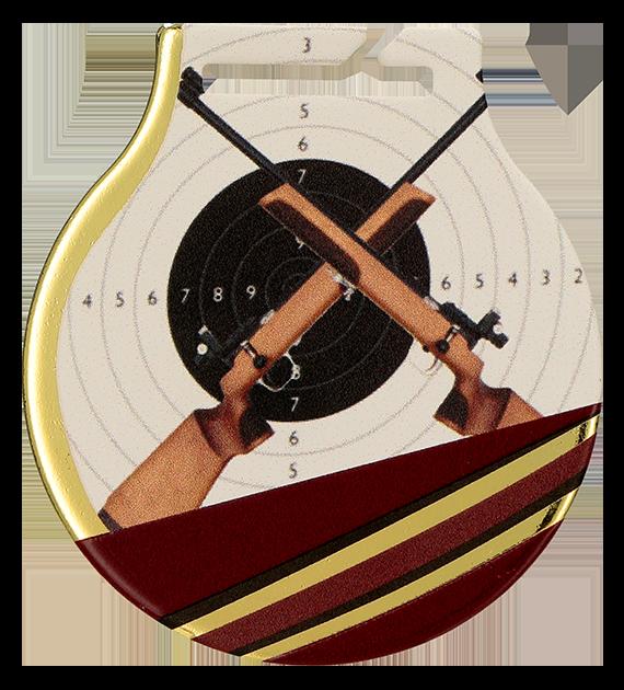 Medal stalowy z usługą Q - STRZELECTWO BROŃ DŁUGA MC61/G/SHO2 1