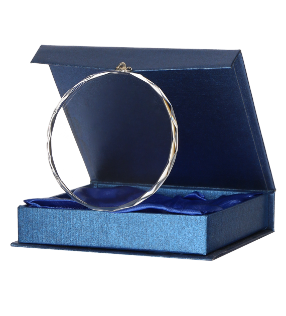 Glass medal 80 mm in a presentation box CM002 6