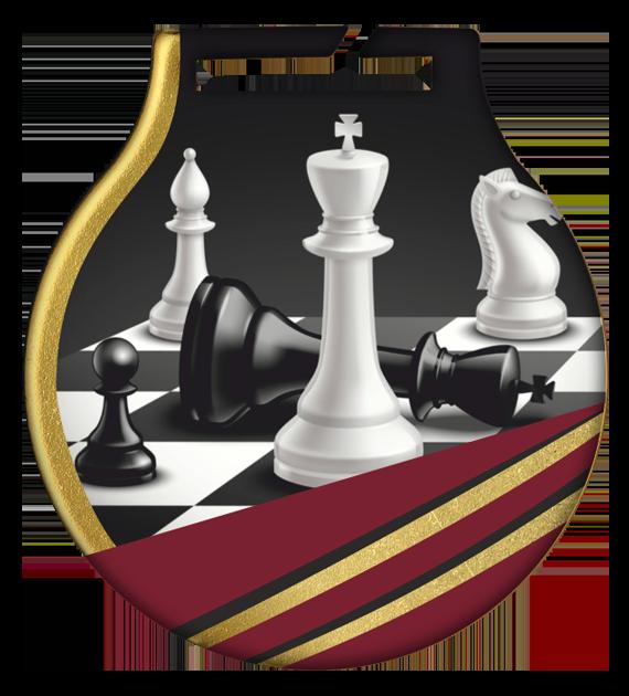 Stahl-Medaillen mit Aufdruck - Schach MC61/G/CHE 2