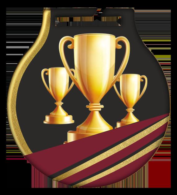 Stahl-Medaillen mit Aufdruck - Pokal MC61/G/CUP 2